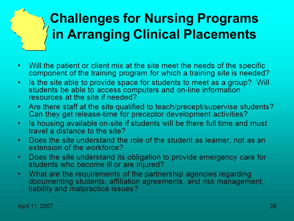 Challenges for Nursing Programs in Arranging Clinical Placements