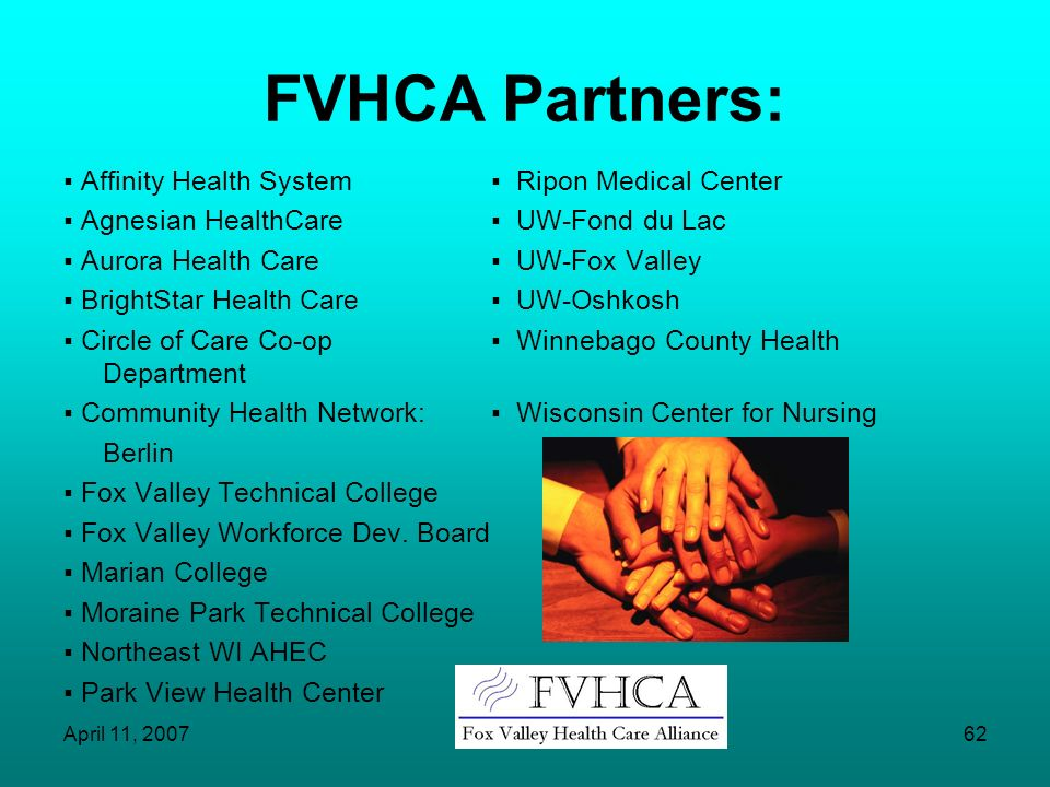 FVHCA Partners: ▪ Affinity Health System ▪ Ripon Medical Center
