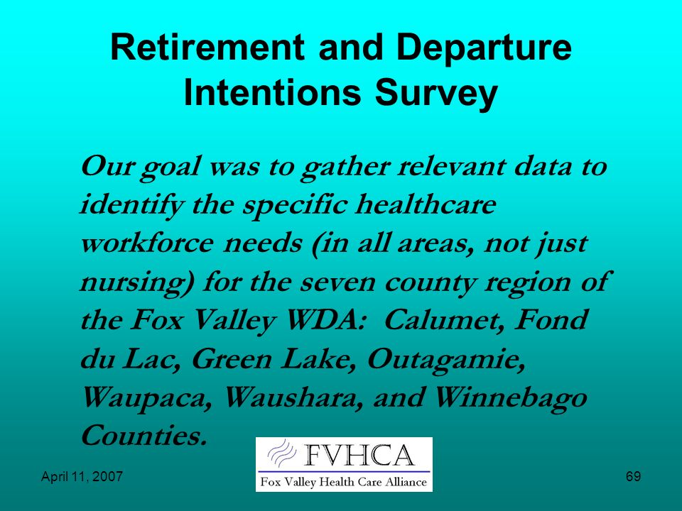 Retirement and Departure Intentions Survey