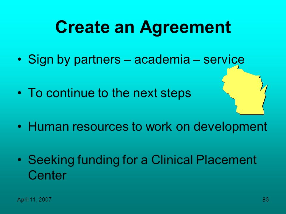 Create an Agreement Sign by partners – academia – service