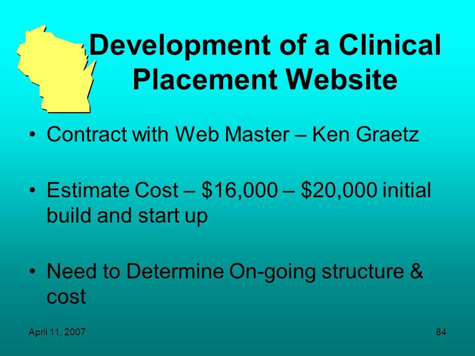 Development of a Clinical Placement Website