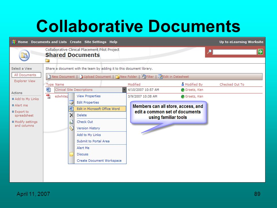 Collaborative Documents