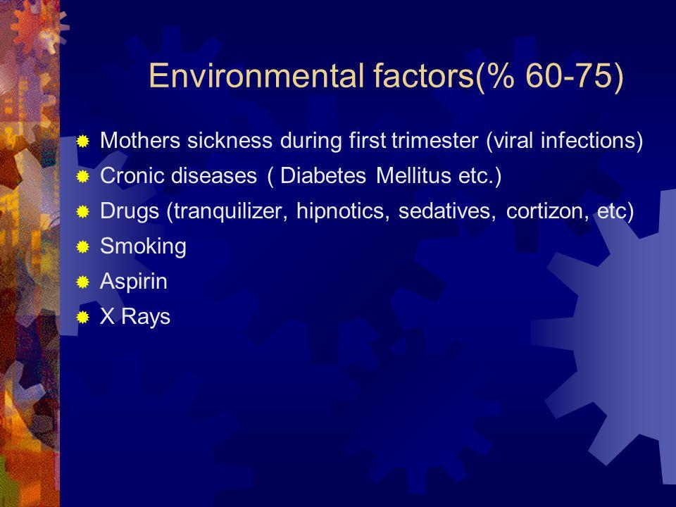 Environmental factors(% 60-75)