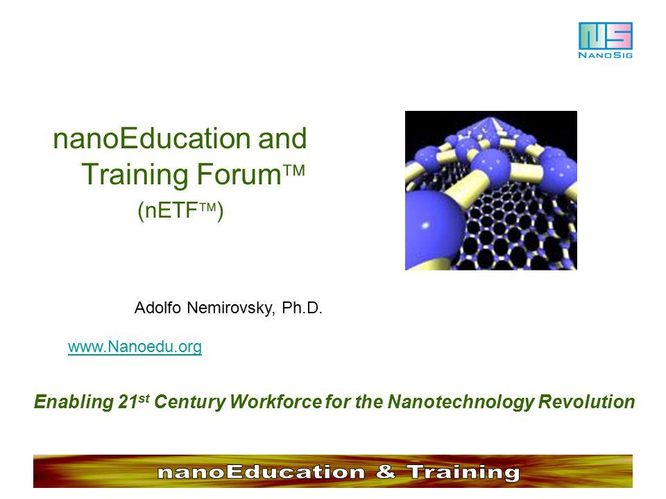 nano Education & Training Forum