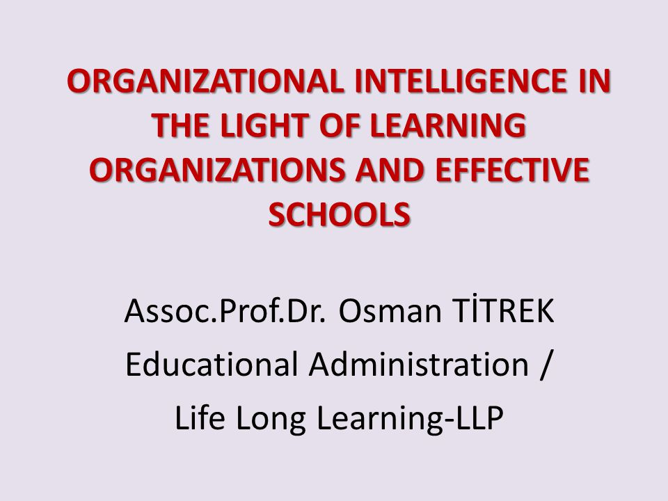 Assoc.Prof.Dr. Osman TİTREK Educational Administration /