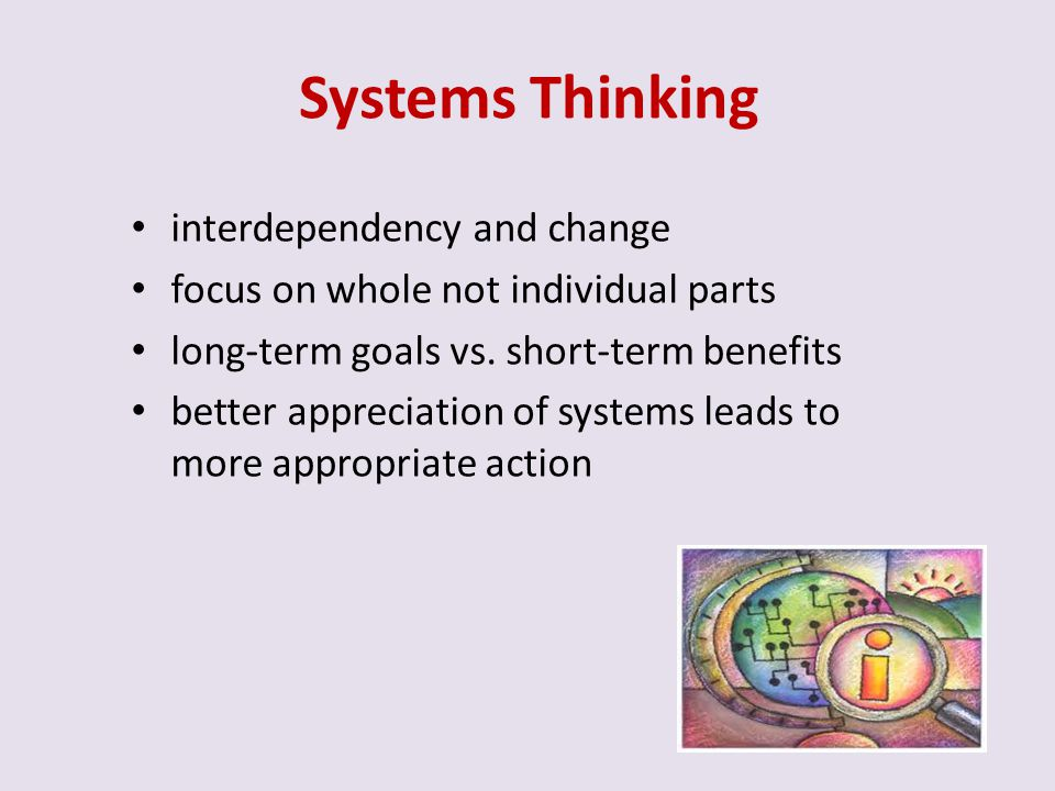 Systems Thinking interdependency and change