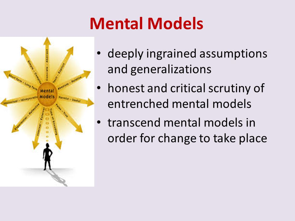 Mental Models deeply ingrained assumptions and generalizations