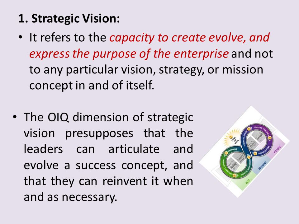 1. Strategic Vision: