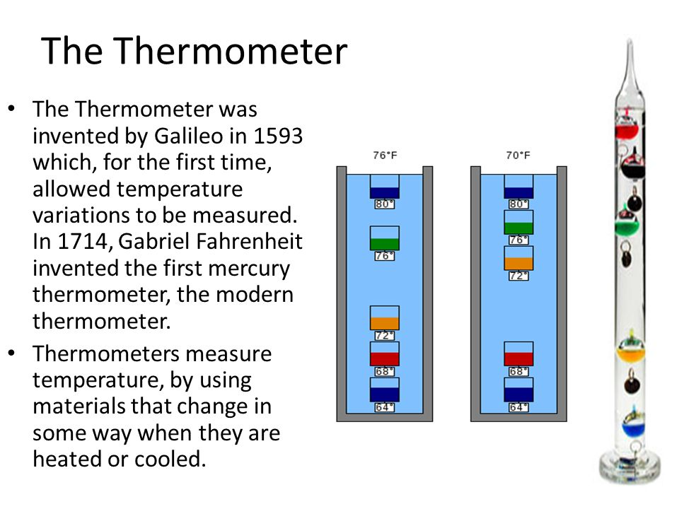 first mercury thermometer - photo #19