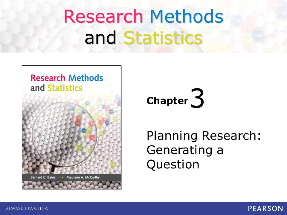 Planning Research: Generating a Question