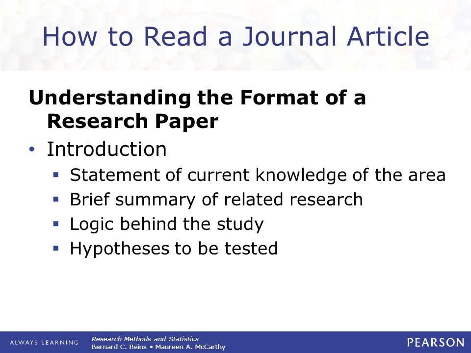 writing a research paper format Components of a research paper paper - the following links are a three part youtube series on writing a scientific research paper sample research paper.