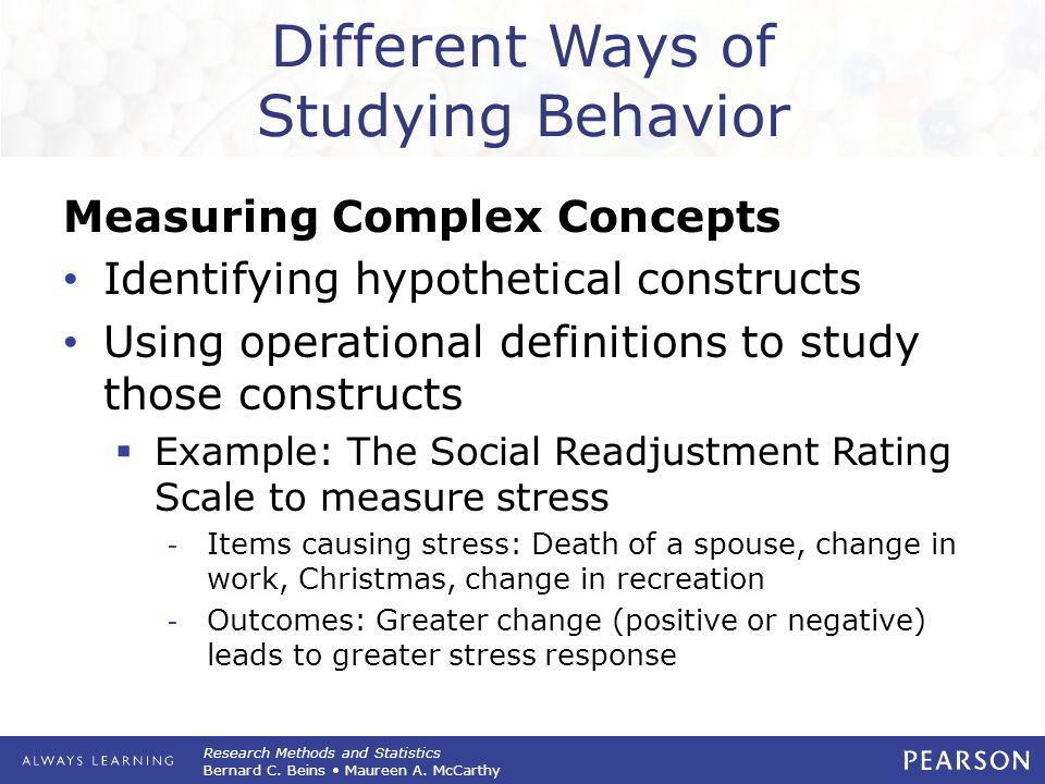 Different Ways of Studying Behavior