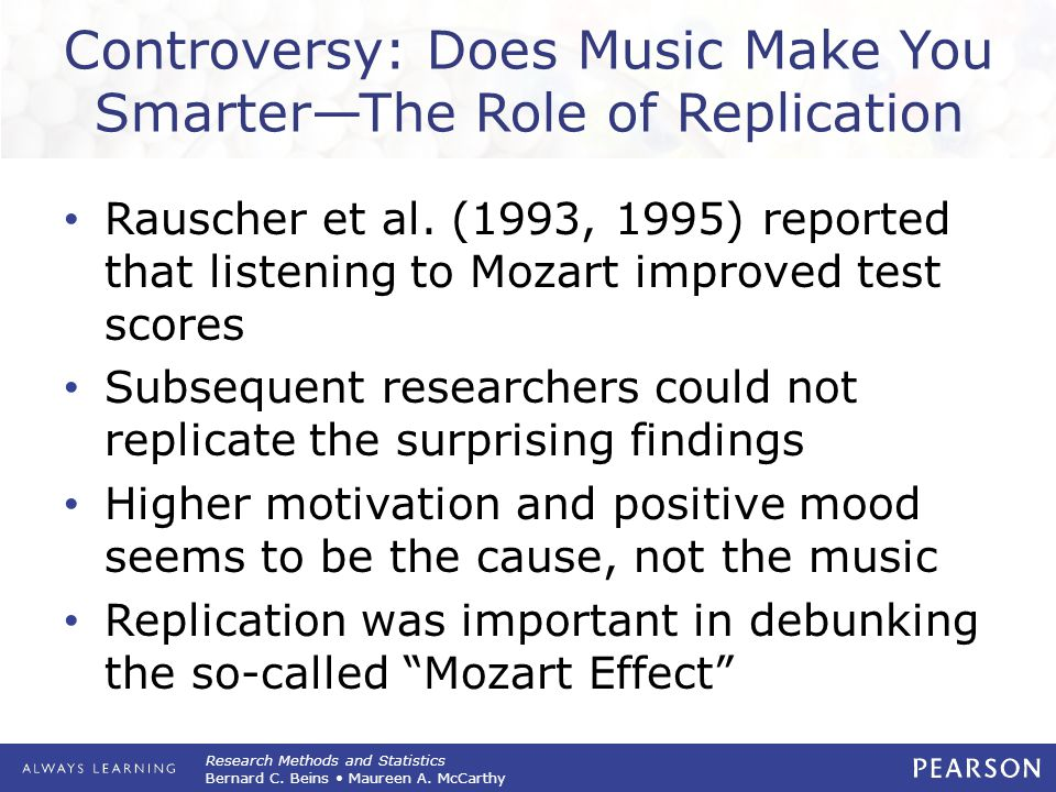 Controversy: Does Music Make You Smarter—The Role of Replication