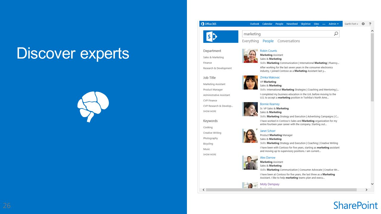 Discover experts