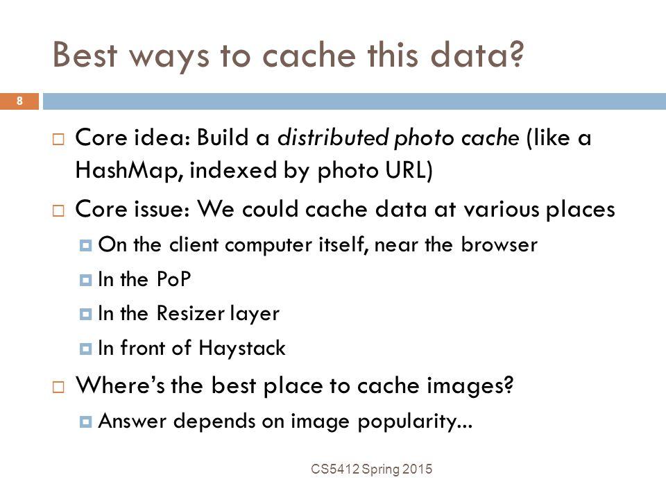 Best ways to cache this data