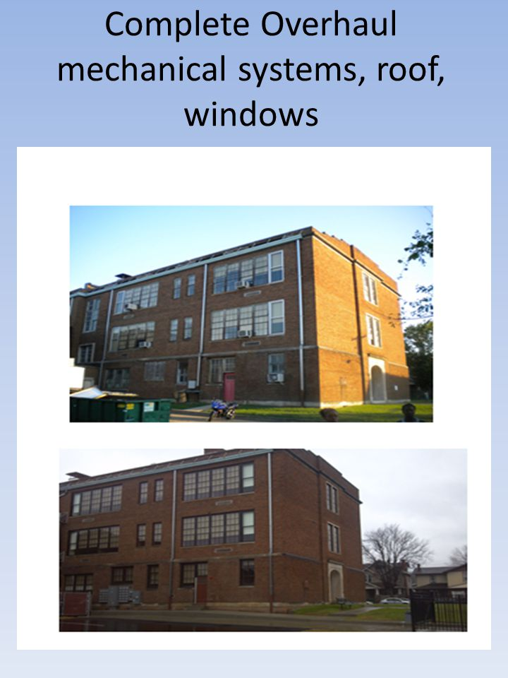 Complete Overhaul mechanical systems, roof, windows