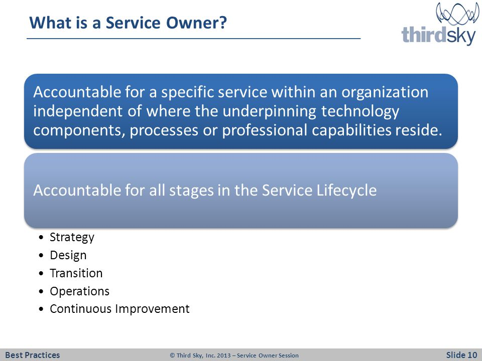 What is a Service Owner