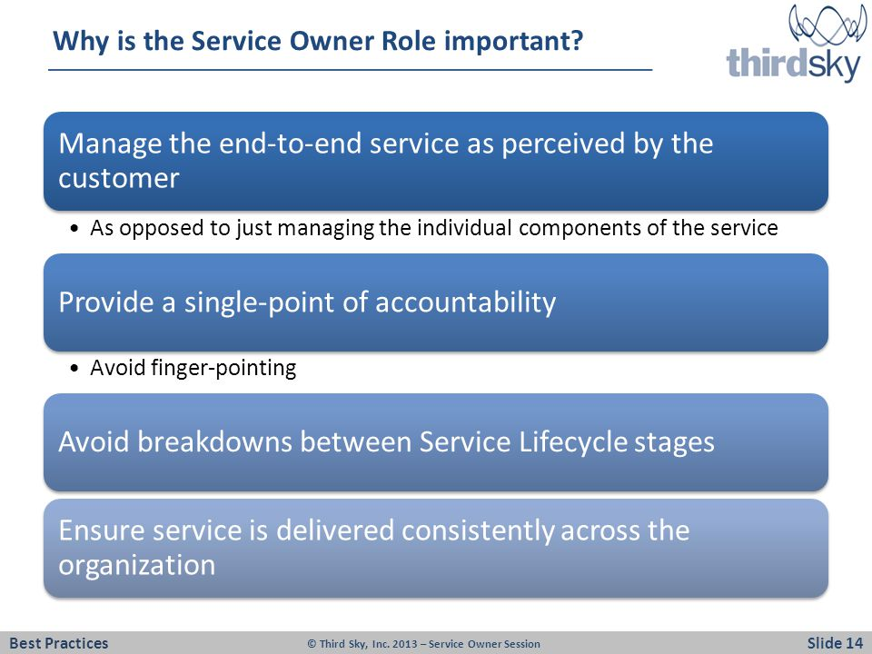 Why is the Service Owner Role important