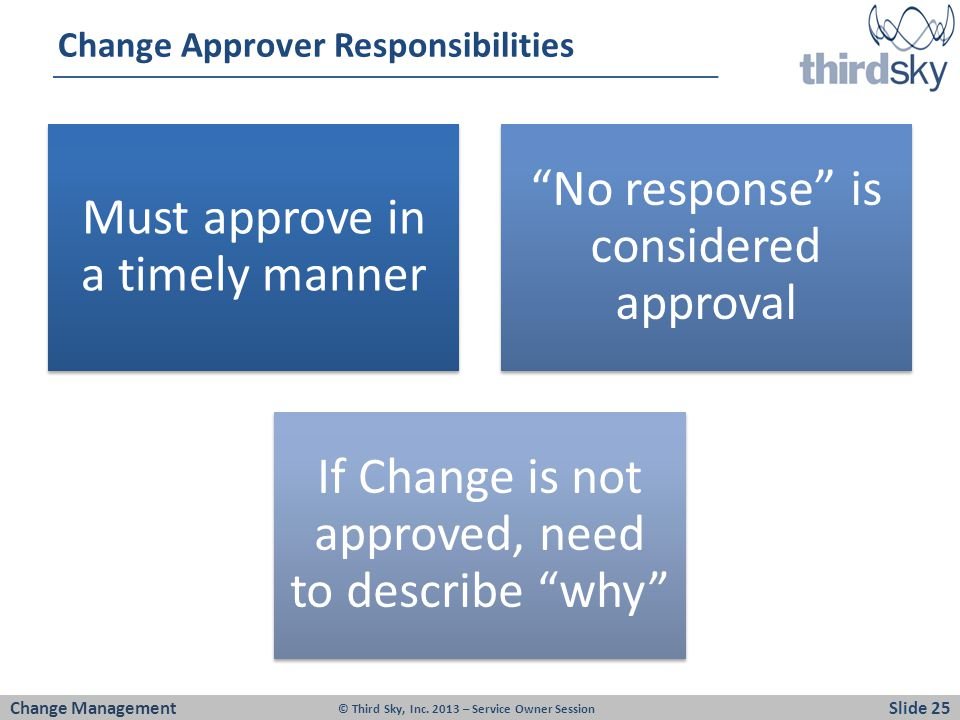 Change Approver Responsibilities