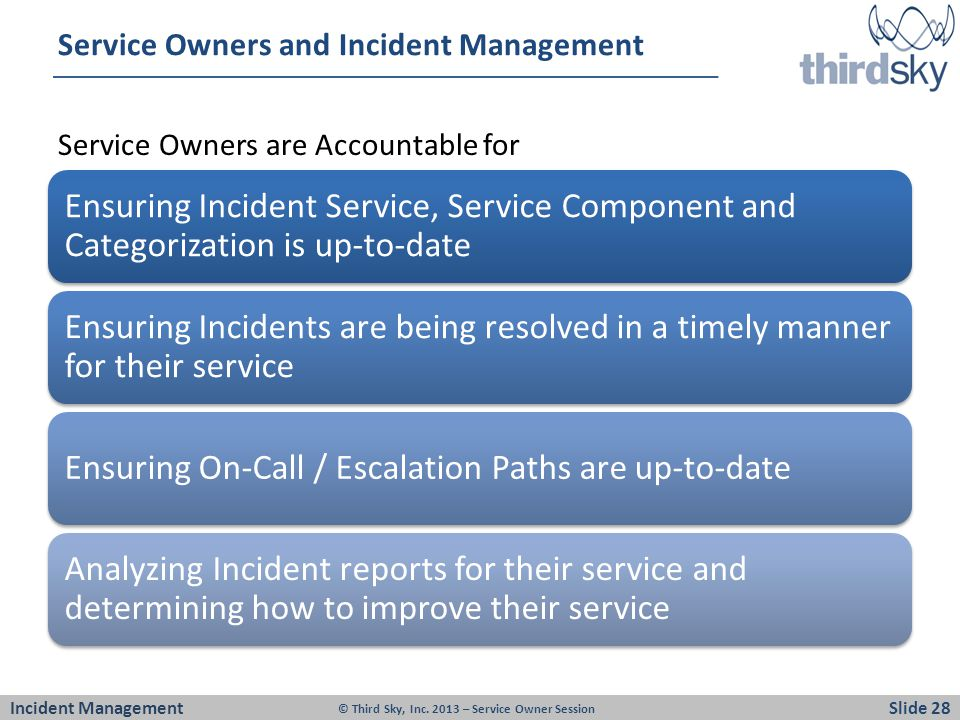 Service Owners and Incident Management