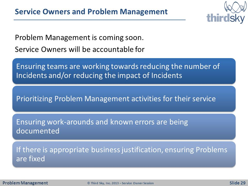 Service Owners and Problem Management