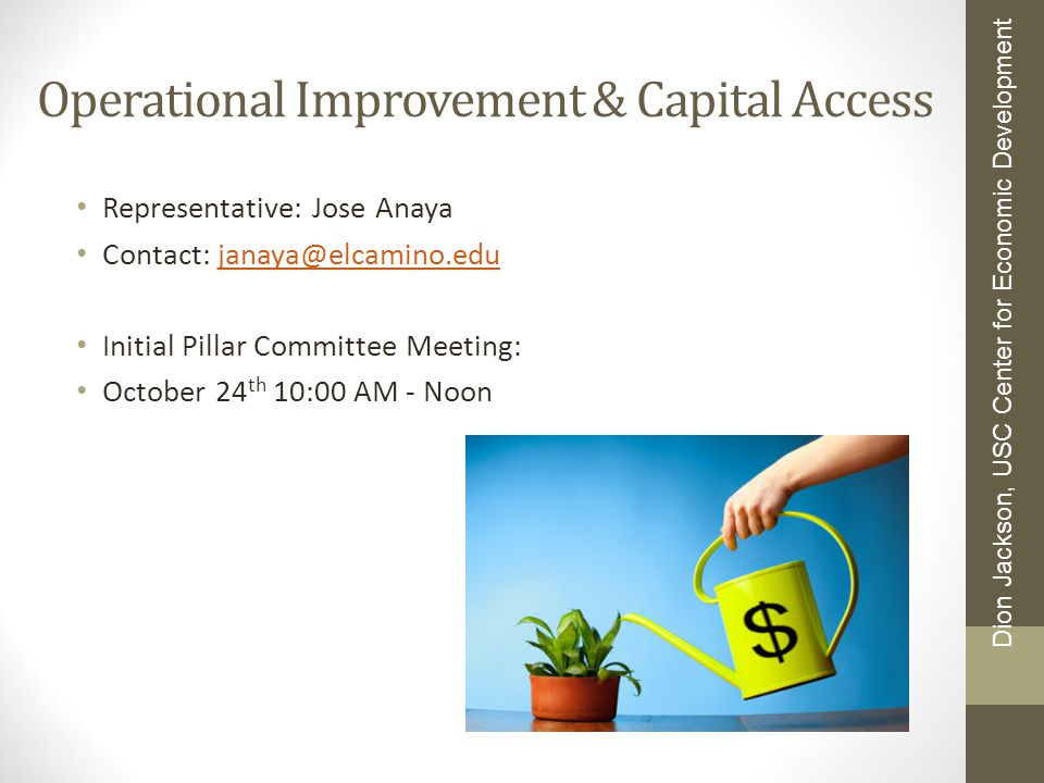 Operational Improvement & Capital Access