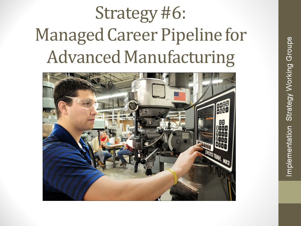 Strategy #6: Managed Career Pipeline for Advanced Manufacturing