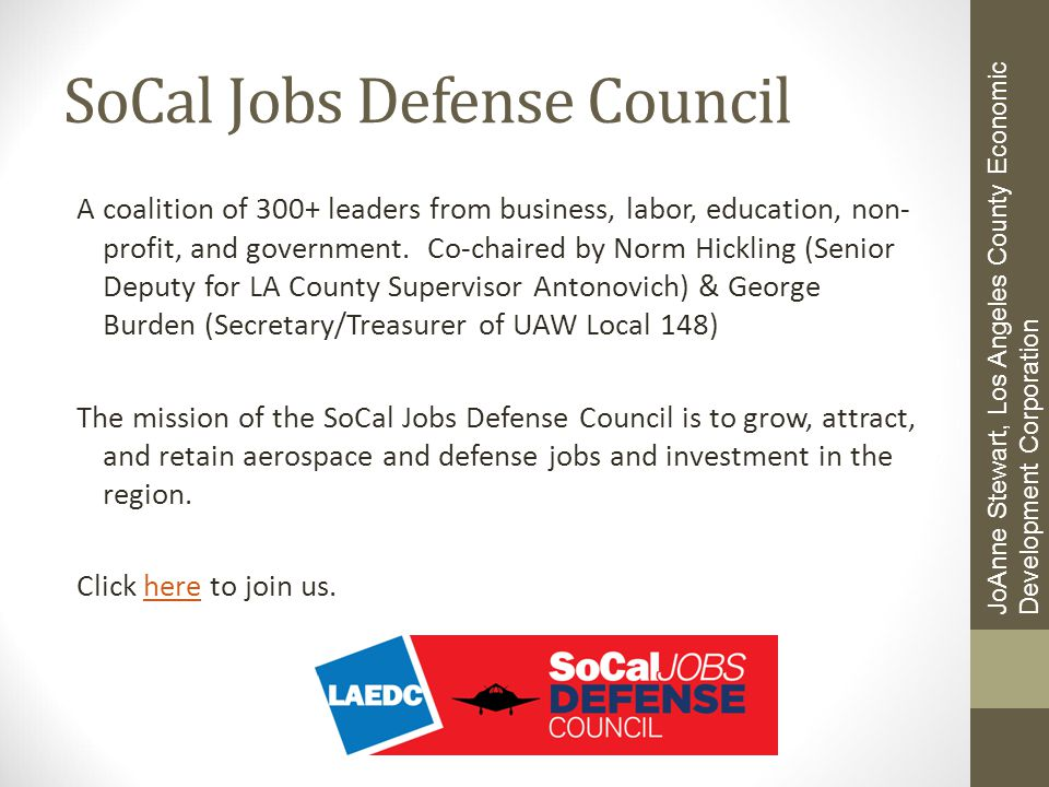 SoCal Jobs Defense Council