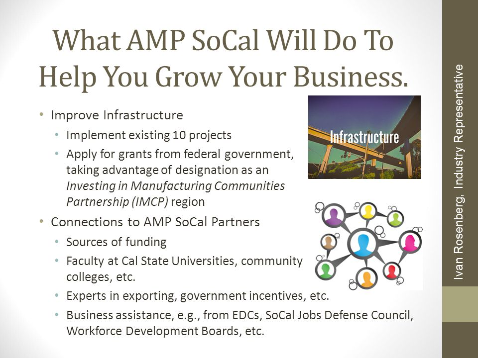 What AMP SoCal Will Do To Help You Grow Your Business.