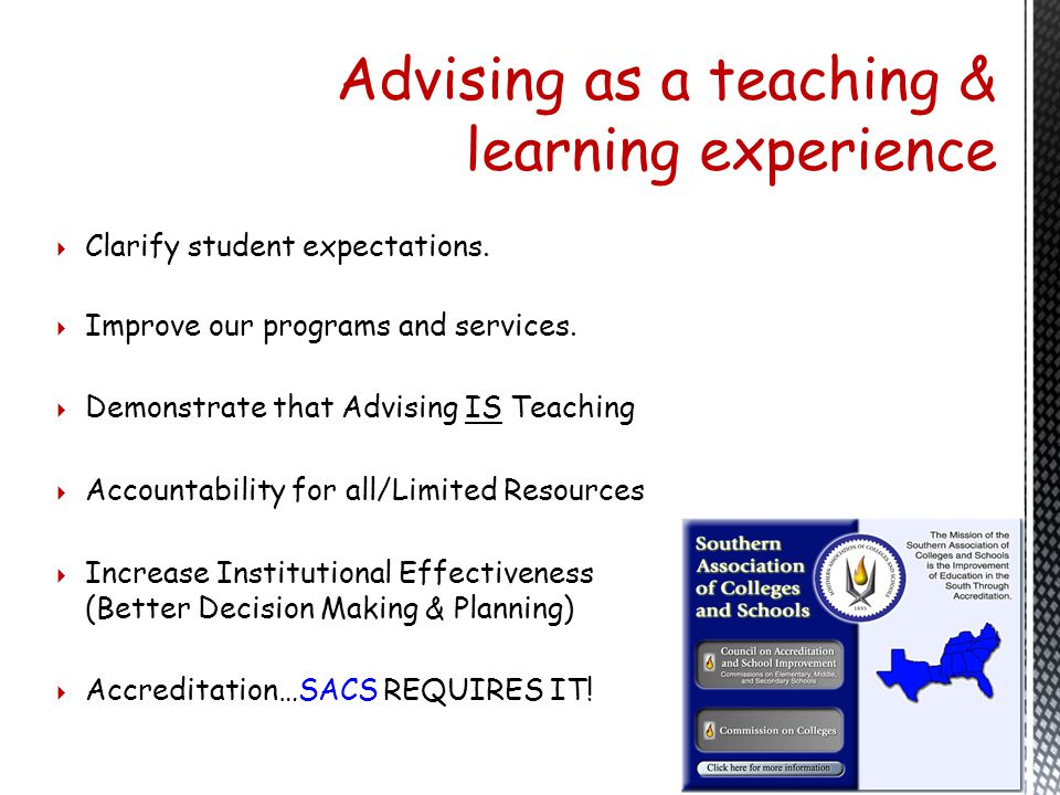 Advising as a teaching & learning experience