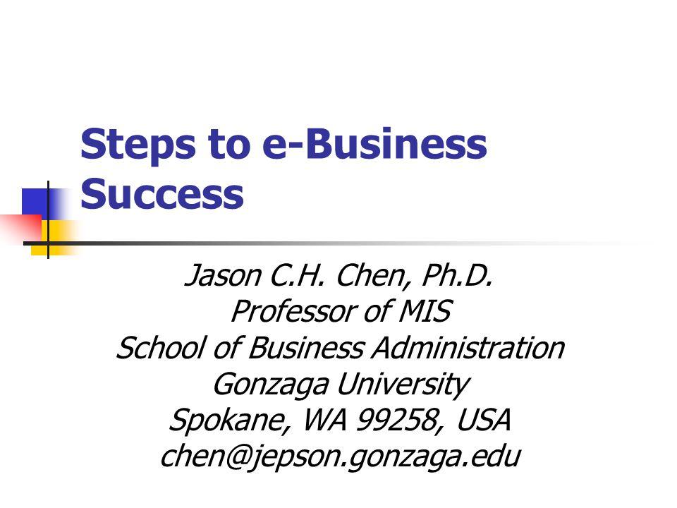 Steps to e-Business Success