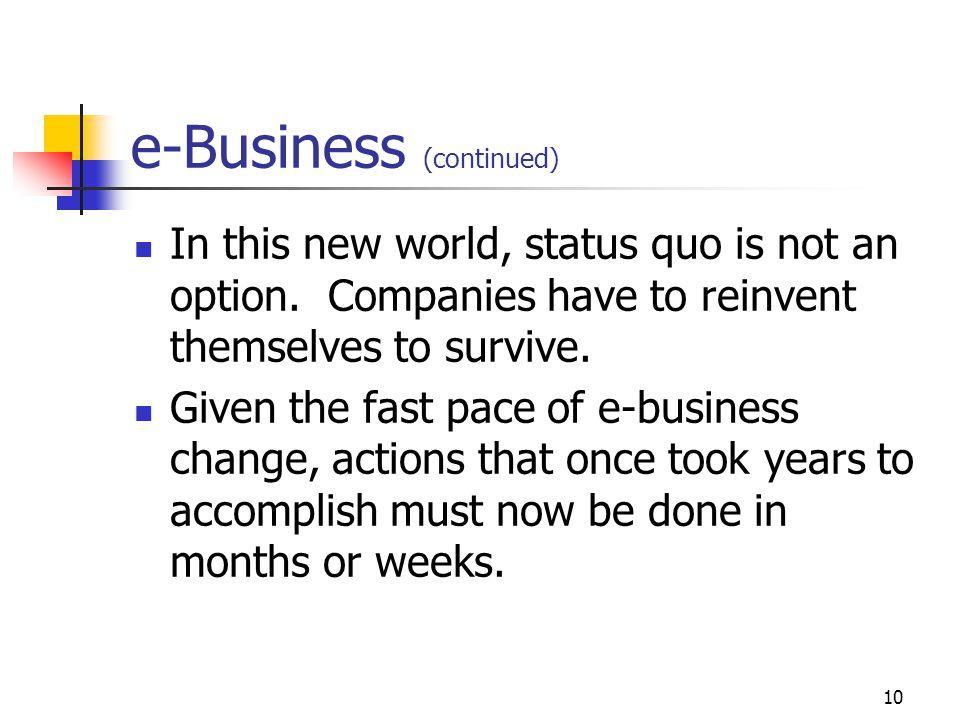 e-Business (continued)