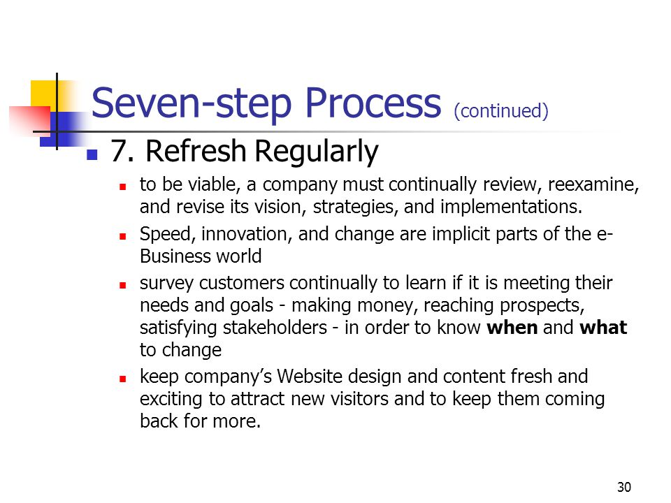 Seven-step Process (continued)