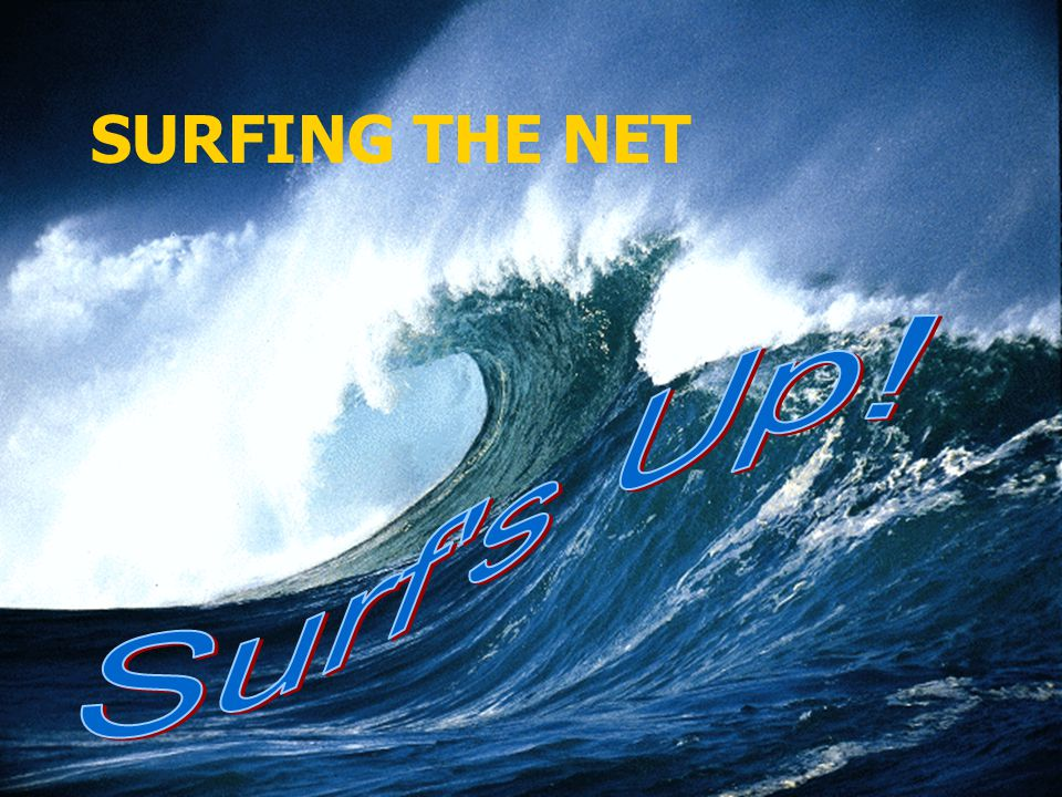 SURFING THE NET Surf s Up!