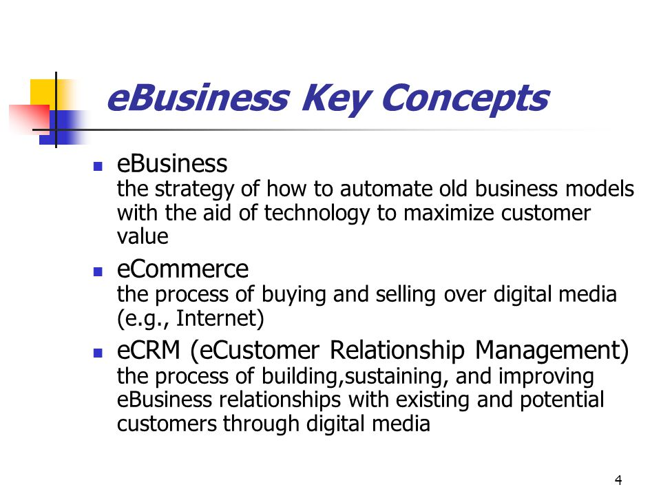 eBusiness Key Concepts