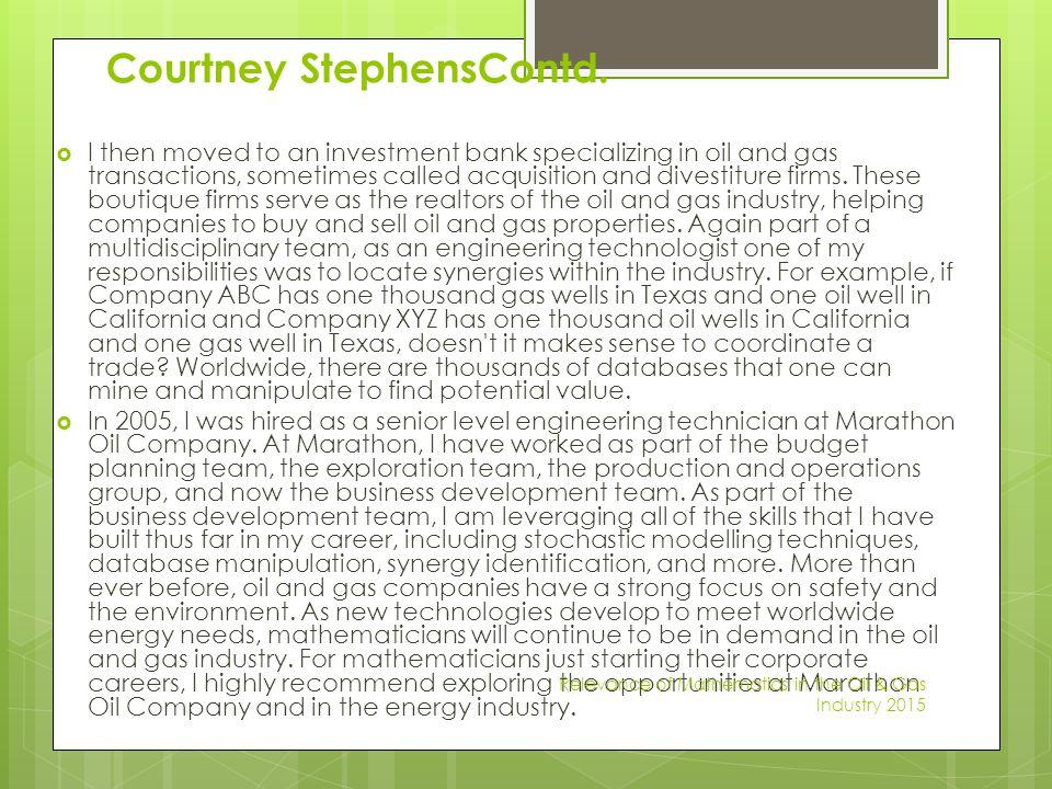 Courtney StephensContd.