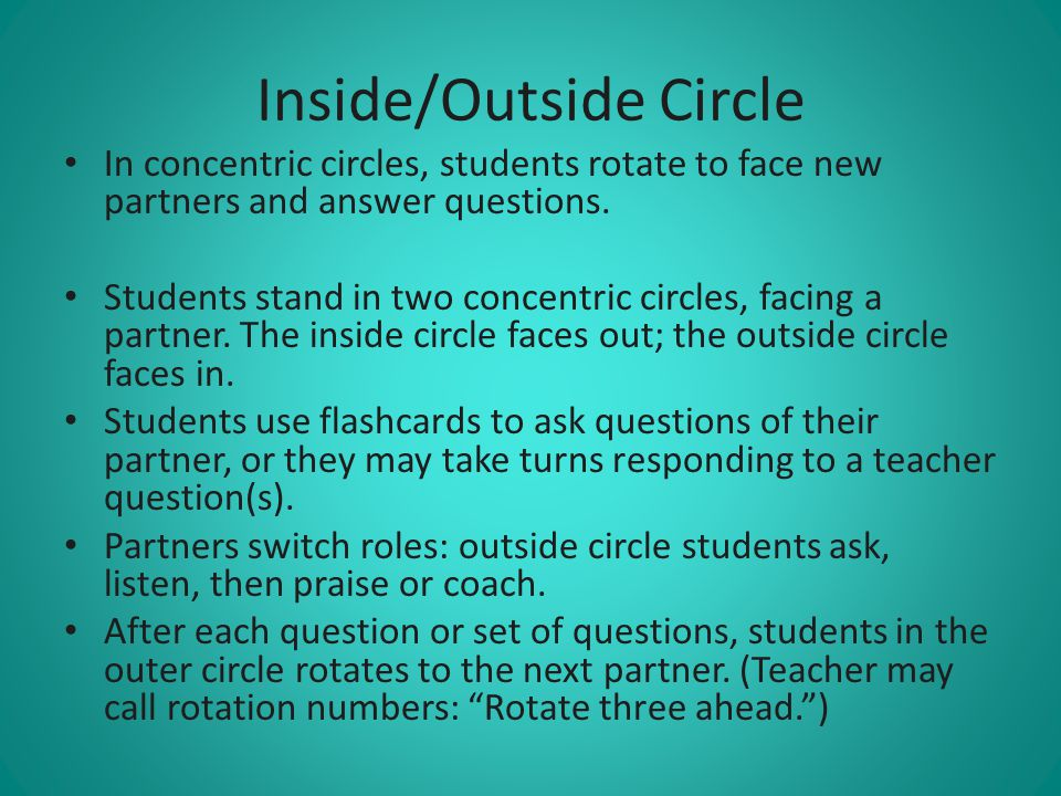 Inside/Outside Circle