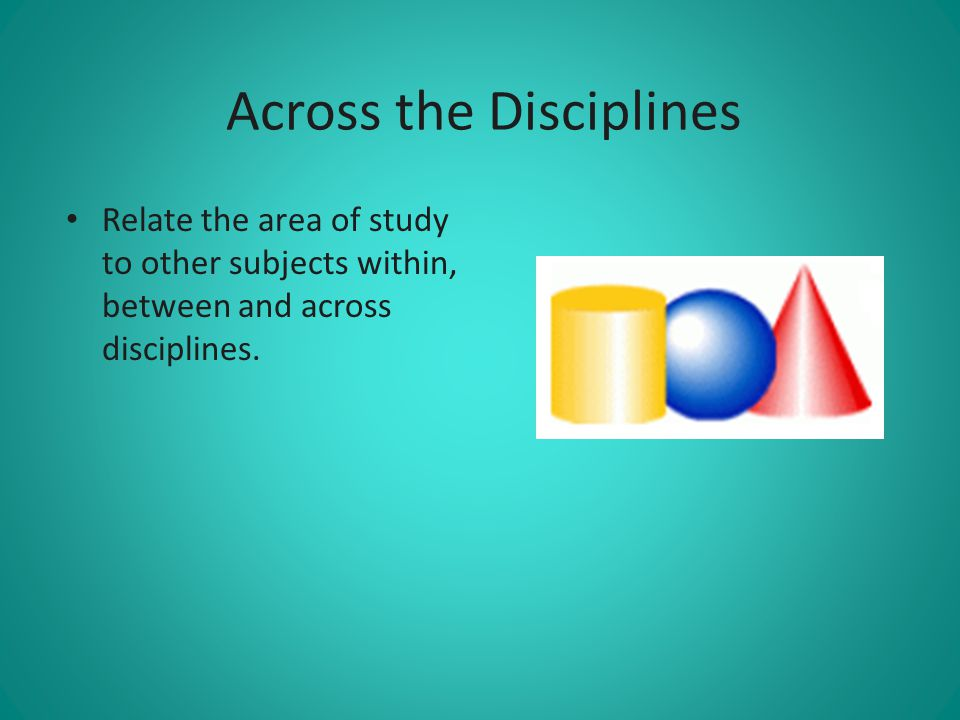 Across the Disciplines