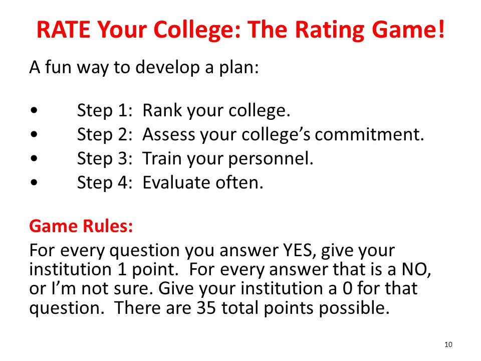 RATE Your College: The Rating Game!