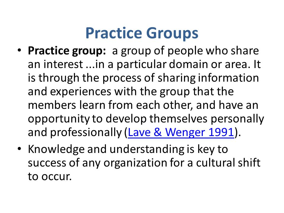 Practice Groups