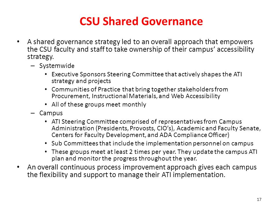 CSU Shared Governance
