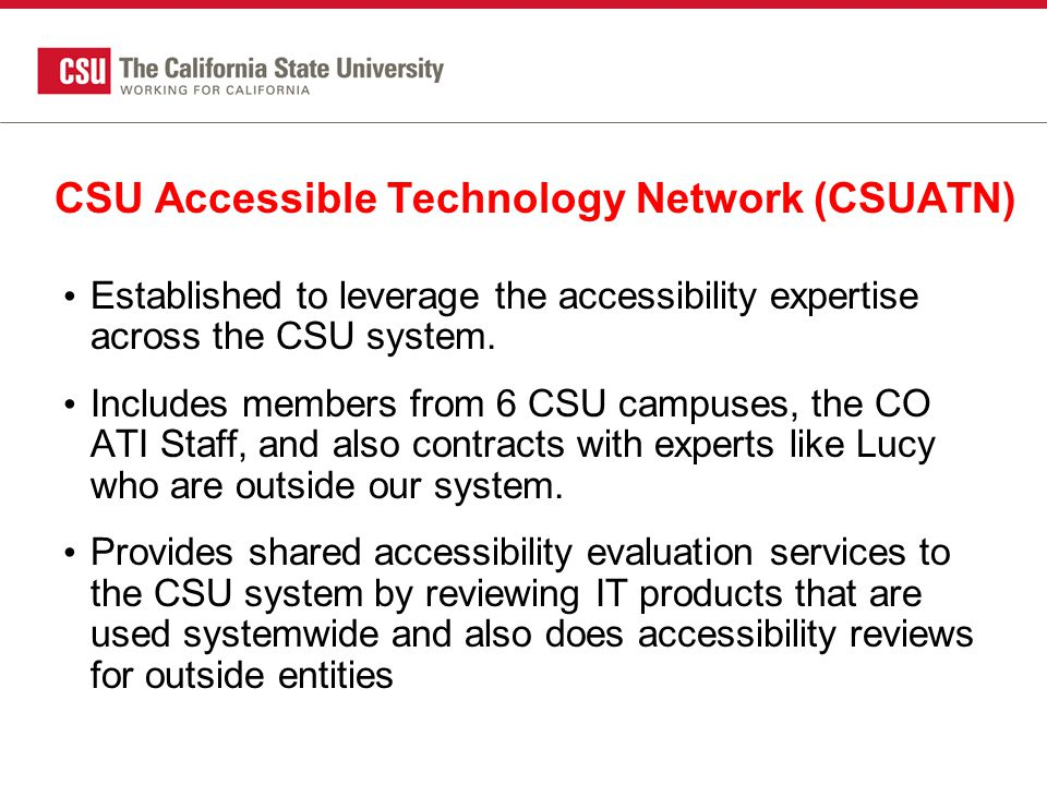 CSU Accessible Technology Network (CSUATN)