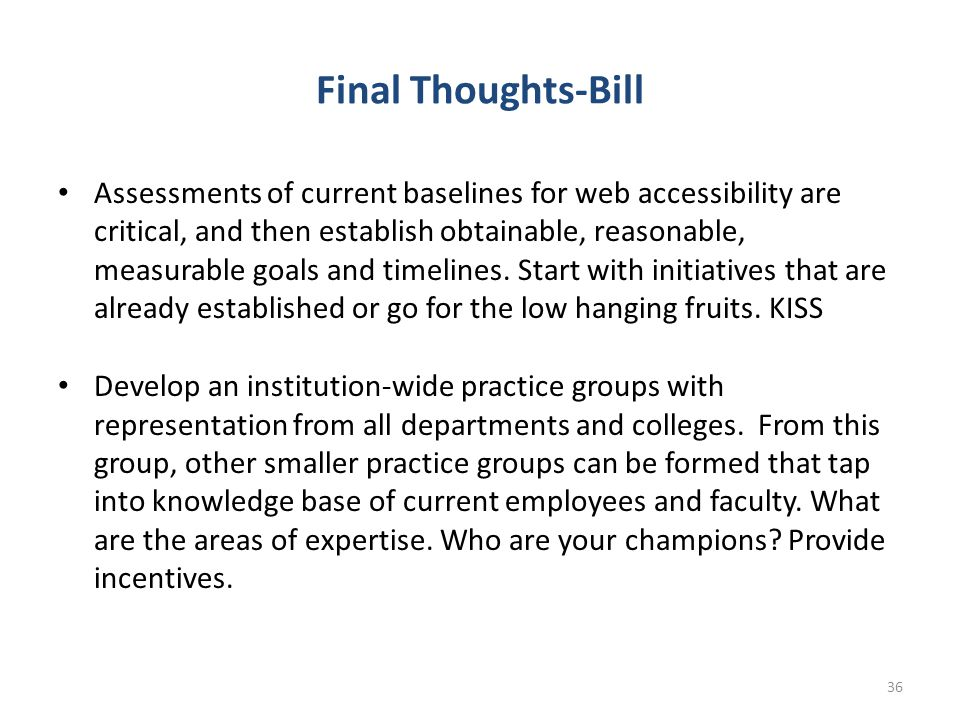 Final Thoughts-Bill