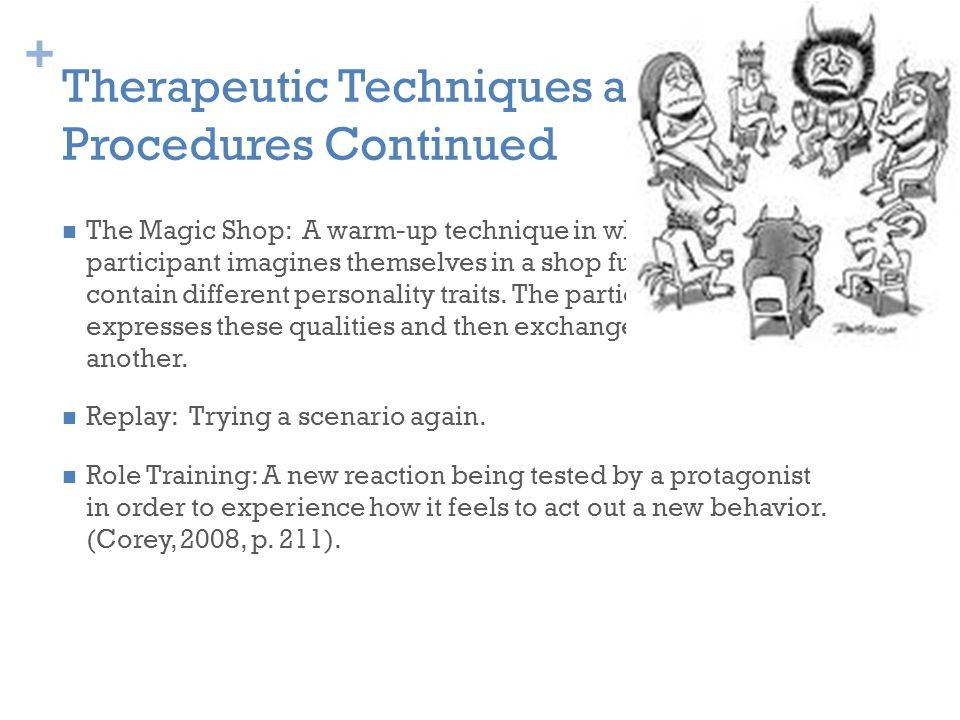 Therapeutic Techniques and Procedures Continued