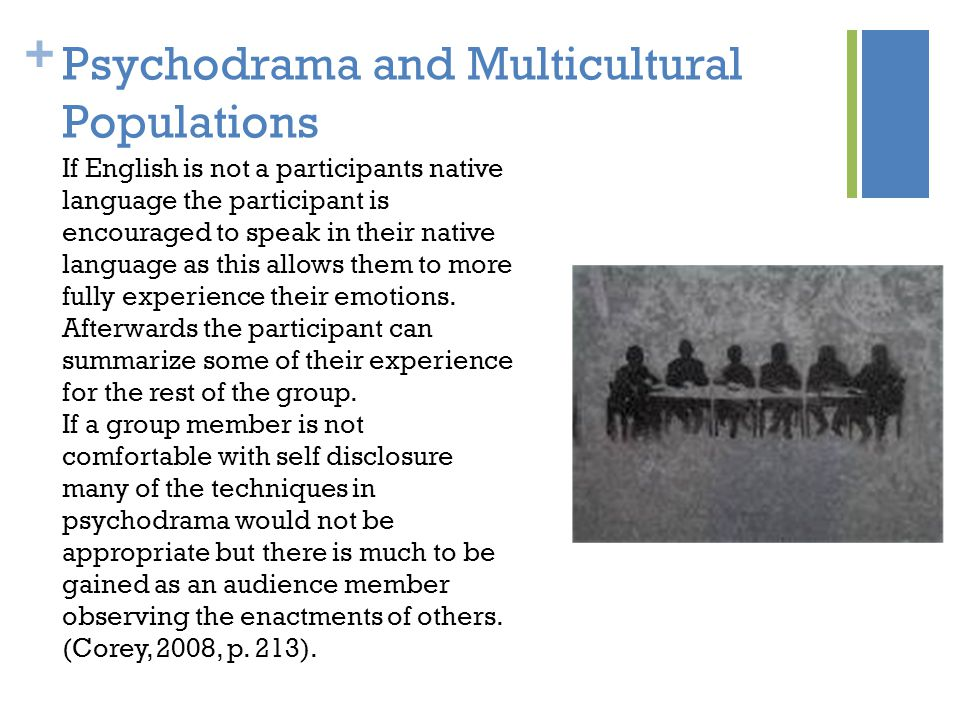 Psychodrama and Multicultural Populations