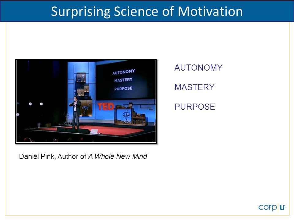 Surprising Science of Motivation
