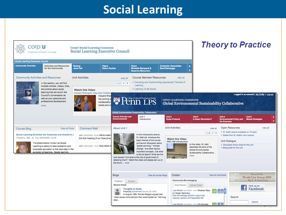 Social Learning Theory to Practice