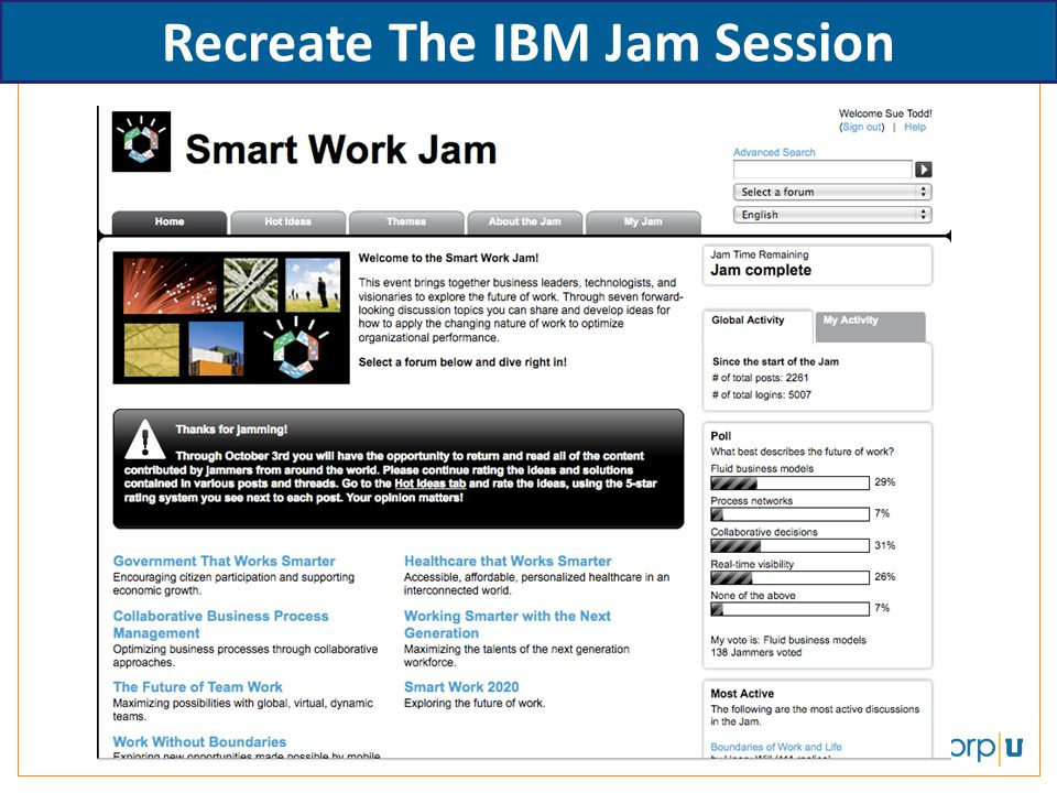 Recreate The IBM Jam Session
