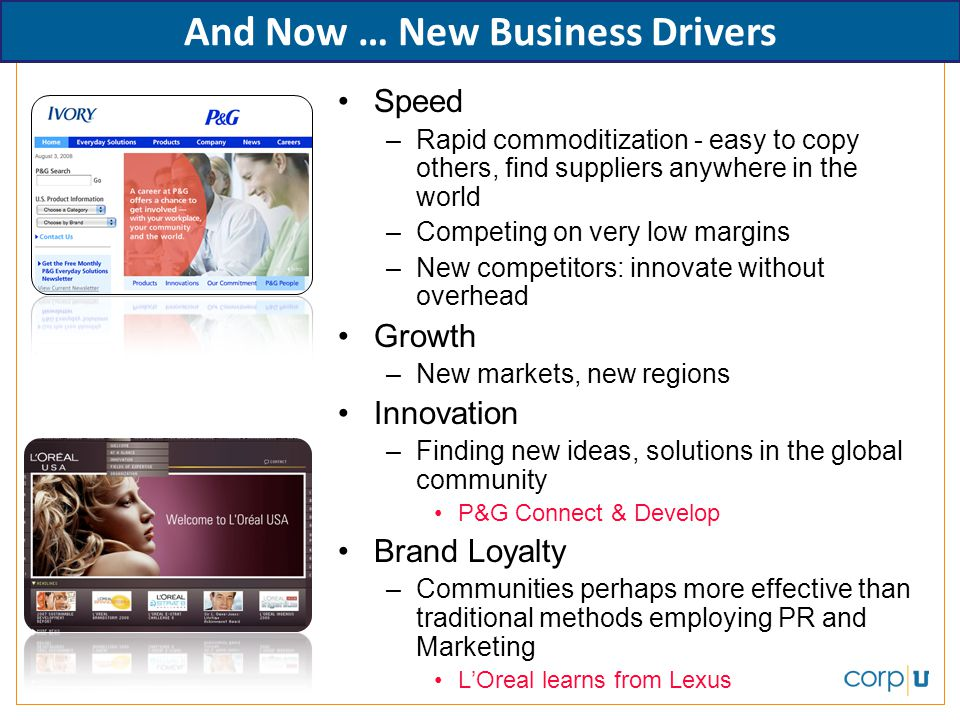 And Now … New Business Drivers