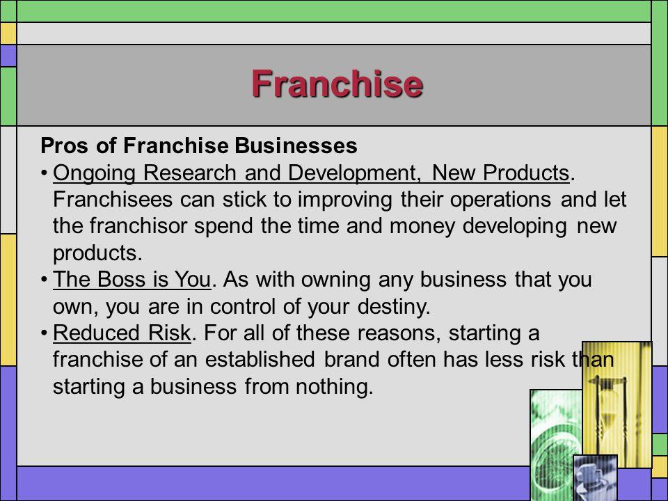 Franchise Pros of Franchise Businesses